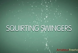 Squirting Swingers (go to the link to watch the bustling video)
