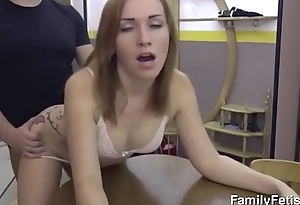 Sex in the kitchen with step mom-Free Full Videos at FamilyFetish.com