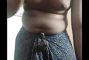 Horny tamil boy jerking off in Lungi
