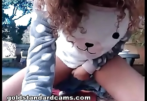 Goldstandardcams  found a videotape of my sister playing with herself outside - part 2