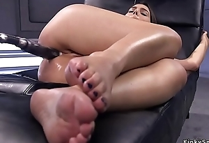 Honcho pamper takes gear up her ass