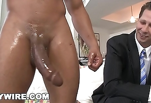 GAYWIRE - Wade Huntter Gets His White Ass Stuffed With Castro'_s Big Black Dick