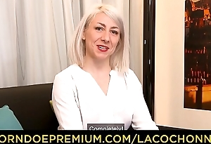LA COCHONNE - Adventurous French blonde MILF down for some DP action