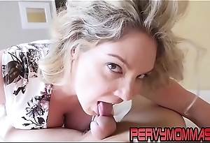 Horny busty milf sucking and jerking off cock pov song