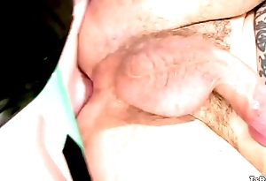 Tattooed worker and tranny anal fucking