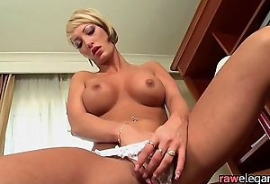 Masturbating milf toying her asshole