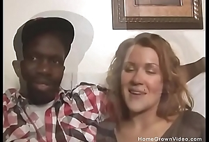 Thick busty white slut takes exposed to a big black cock