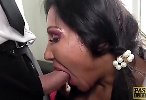PASCALSSUBSLUTS - Unsightly British MILF gets her holes slammed