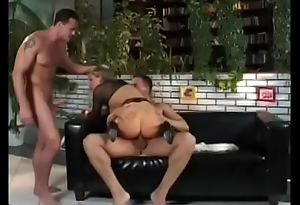 Cute European blonde Monika in black outfit gets face fucked in someone's skin V.I.P. Room.