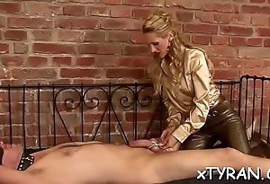 Captivating honey gets her mouth and twat fucked roughly