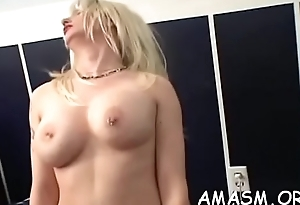 Adult females face sitting chap in naughty femdom porn show