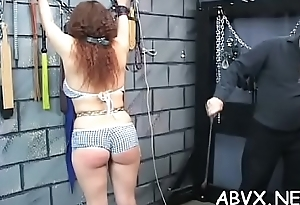 Tight slit extreme bondage in home xxx video