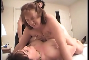 Duo Lesbians Fuck Redhead Dawn With A Strapon Dildo Til She Cums Multiple Times