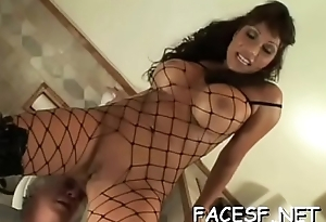 Hot beauty gets her big tits licked and round a-hole worshipped