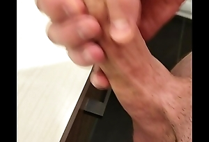 Uncut cock cum hard after a good session