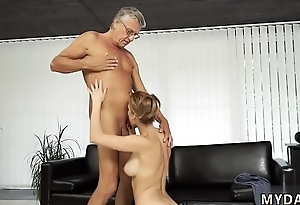 Padre fetish Copulation with her boyduddy&acute_s father after swimming pool