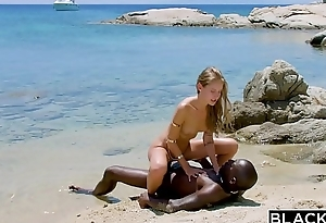 BLACKED Strong malignant impoverish fucks blonde tourist chiefly the beach