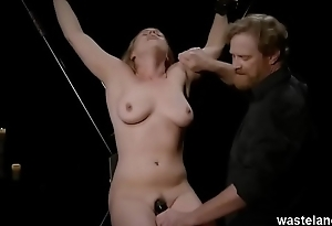 Roleplay BDSM Fun With Blonde And Maledom Master Experimenting With Bondage And Toys