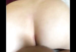 Black cock finishes off PAWG in doggystyle with creampie