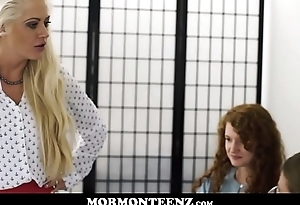 Two Teen Mormon Girls Punished With Spanking And Orgasms For Fighting