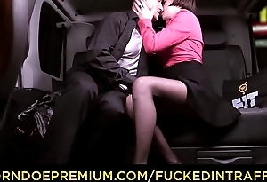 FUCKED IN TRAFFIC - Cabbie George Uhl seduced by brunette Czech beauty to lose one's heart to everywhere his car