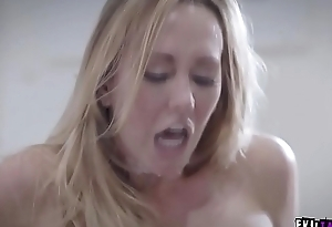 Brett Rossi sexually harassed and fucked in office by her boss!