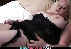 Big melons blonde woman rides his cock