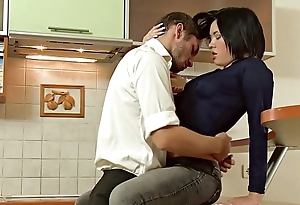 Amazing russian beauty fucked in the kitchen