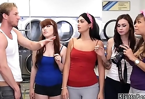 Teen nerd blowjob Laundry Day
