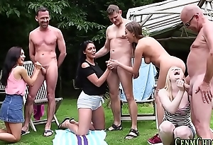 Cfnm mistresses outdoors