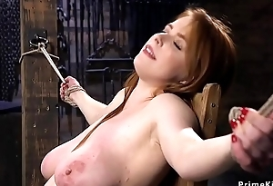Huge tits babe gets dp dicks on a tend