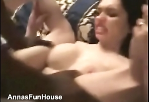 Anna takes big black dick almost ass and love every piece