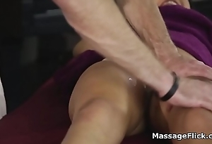 Masseur sucked by spicy oily Latina client