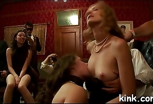Hot pretty beauty drilled and dominated in unconditioned bondage!