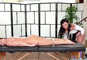 Stressed-out women visits the Spa - Abigail Mac and Whitney Wright