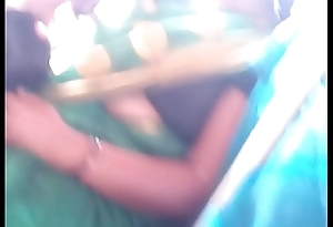 Aunty in bus.. blouse nipple visible... Watch carefully 3