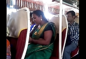 Aunty in bus.. blouse nipple visible... Watch cannily 1