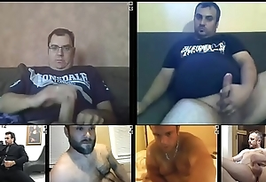 daddy thick big cock jerk-off webcam multicam session multiple videos glasses cum