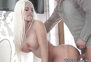 Busty euro amateur jizzcovered by her lover