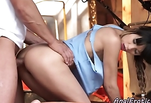 Assfucked babe tasting her boyfriends jizz