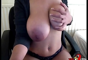 HORNY LATINA MILF BIG Interior PLAYING - HUSBAND AT WORK