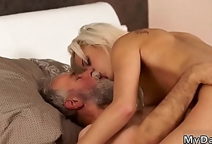 Old young creampie Surprise your girlplaymate and she grit smash with