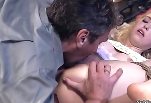 Blonde cousins tied up and fucked