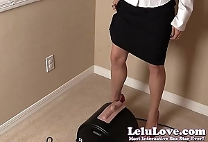 Secretary CUMS home for an orgasmic Sybian ride in work clothes