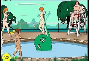 Tentacle monster molests women at pool - Itty-bitty Commentary 2