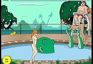 Tentacle monster molests women at pool - Full 2