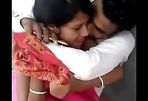 Indian boyfriend coupled with girlfriend try to sex