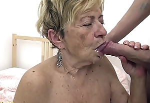 sexy 90 years superannuated granny gets rough fucked