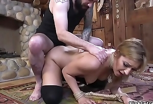 Pretty student pounded in bdsm