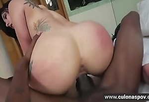 Mandy Star-gaze Interracial Anal Sex With Daddys Friend